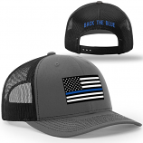 Back The Blue Adjustable Snapback Trucker Cap