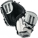"WILSON 2017 A2000 CM34 WHITE SUPERSKIN 34"" FASTPITCH CATCHER'S MITT"