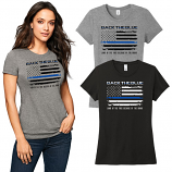 Back The Blue Ladies Tri-blend Tee
