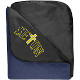 Seton Catholic Travel Blanket with embroidered logo